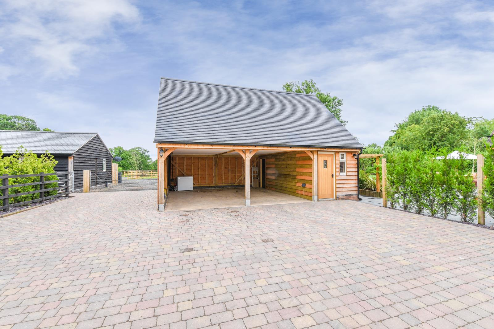 Timber Framed Car Port with Studio Apartment Above